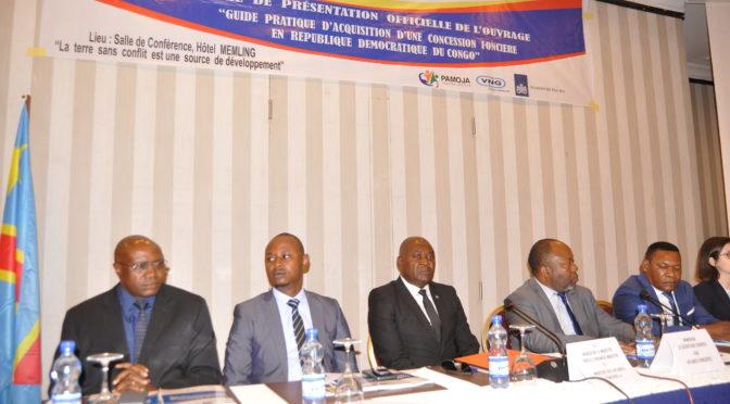 PARTICIPATION A LA CÉRÉMONIE OFFICIELLE DE PRÉSENTATION DU GUIDE PRATIQUE D'ACQUISITION D'UNE CONCESSION FONCIÈRE EN RÉPUBLIQUE DÉMOCRATIQUE DU CONGO