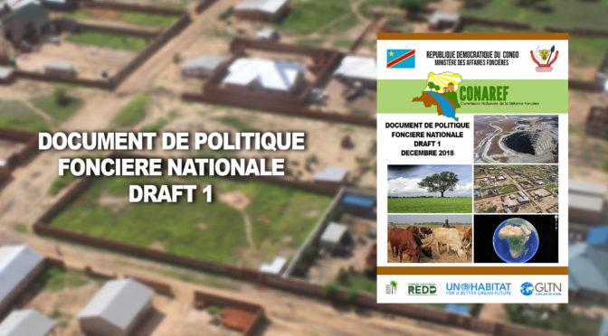 DOCUMENT DE POLITIQUE FONCIÈRE NATIONALE – DRAFT 1