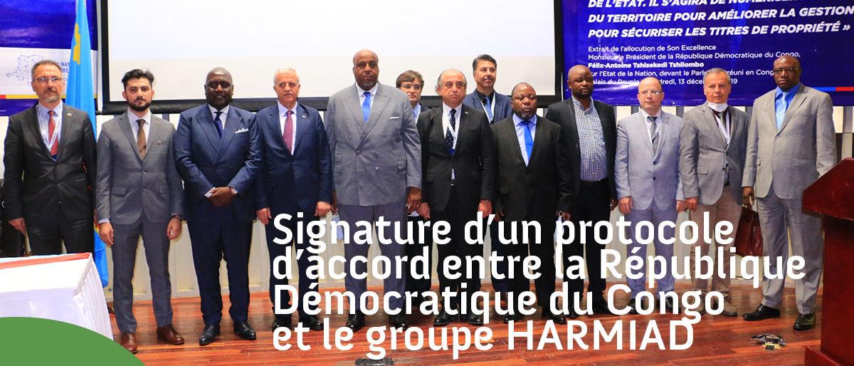 Permalien vers:SIGNATURE D'UN PROTOCOLE D'ACCORD ENTRE LA REPUBLIQUE DEMOCRATIQUE DU CONGO ET LE GROUPE HARMIAD